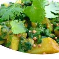 Aloo Palak Recipe (Indian Spinach Potatoes)