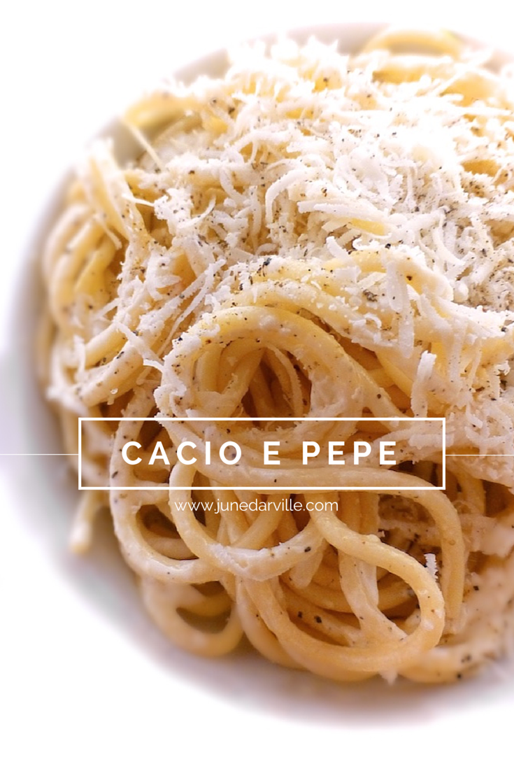 Cacio E Pepe Plain And Simple Pasta With Parmesan Cheese And Pepper