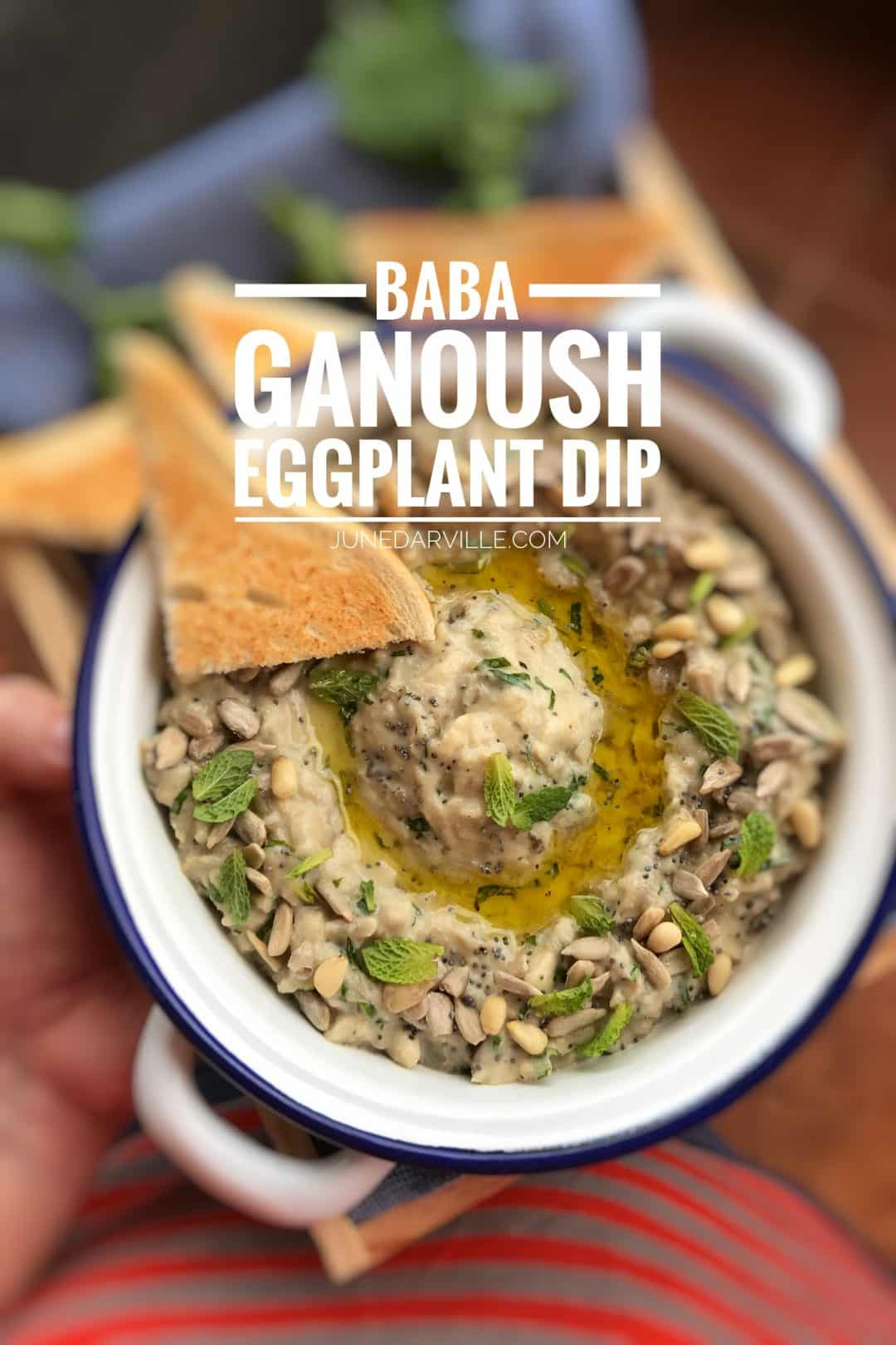 My classic baba ganoush recipe: a roasted eggplant dip with yogurt! Watch my video of how to prepare baba ganoush with the KitchenAid Stand Mixer Mini!