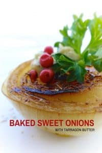 Baked Sweet Onions with tarragon butter and pink pepper... Onion can be so delicious! Especially when they got that caramelized sear on them.
