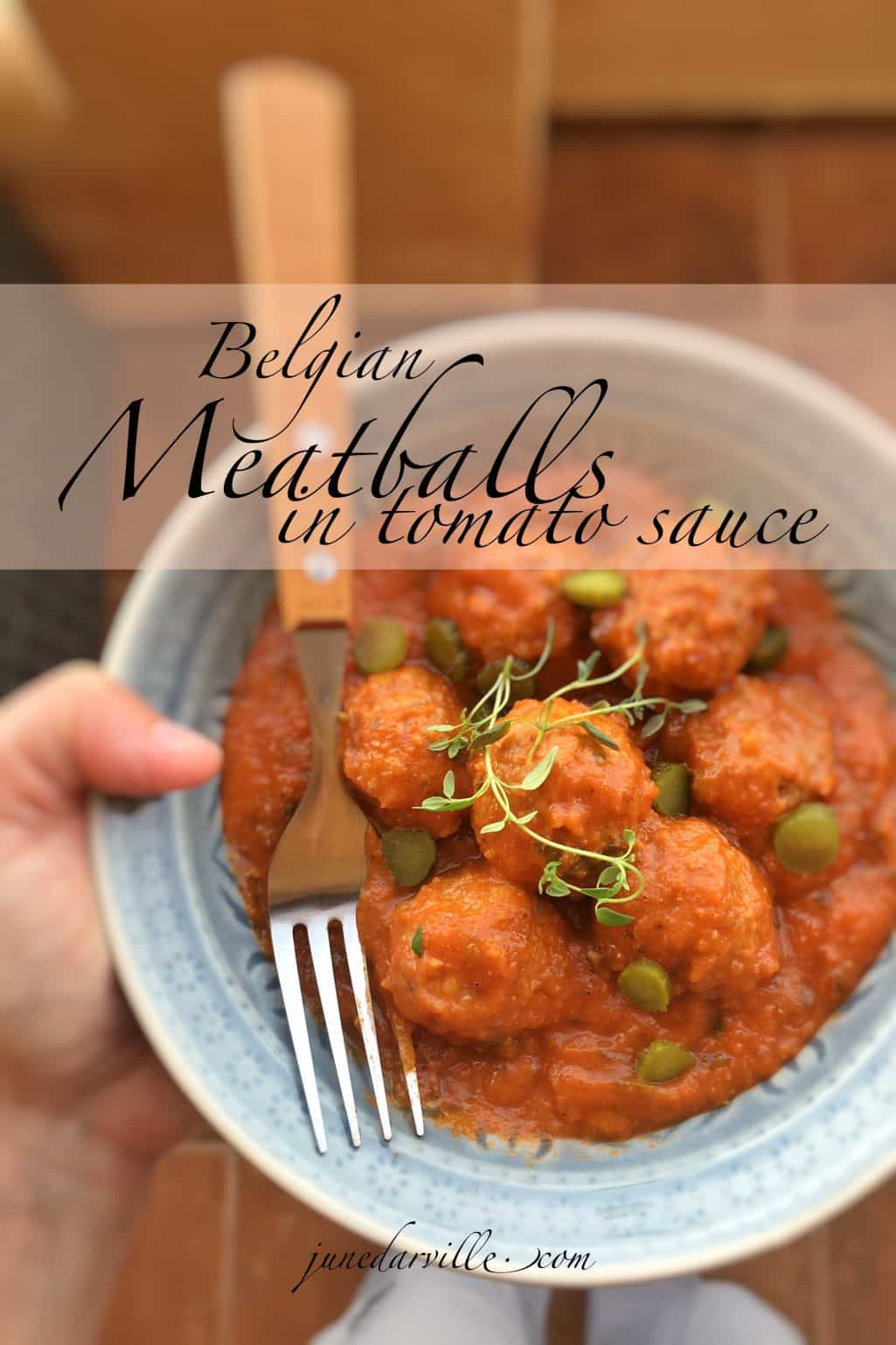 My delicious meatballs in tomato sauce recipe, a classic Belgian dish prepared my style! This is the perfect meatball dinner!