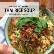 Thai Rice Soup with Pork Mince