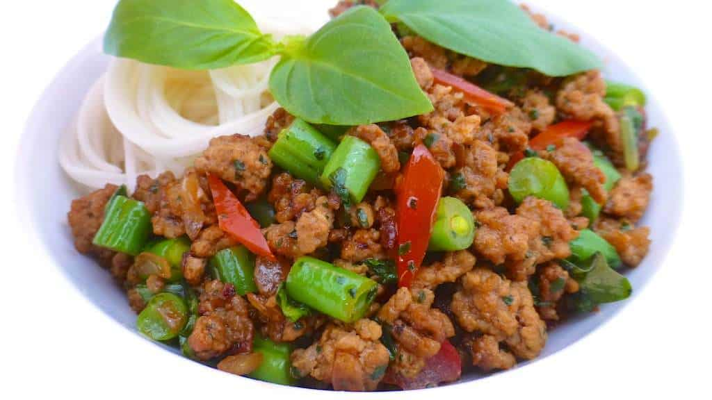 Basil Pork (Thai Pork Stir Fry Recipe) | Simple. Tasty. Good.