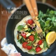 Egg White Omelet with Mediterranean Vegetables