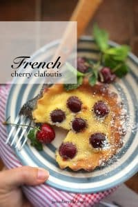 Cherry clafoutis recipe: a tasty French dessert recipe! This cherry clafoutis tastes best when it comes freshly baked straight out of the oven...