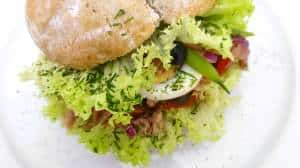 If you ever visit Nice, don't miss out on the famous pan bagnat. It is a popular sandwich over there. You can say it resembles a salad nicoise!