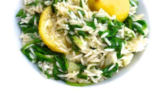 Spanakorizo (Greek Spinach Rice) | Simple. Tasty. Good.