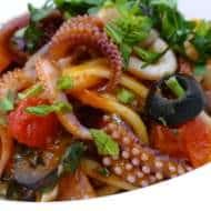 Squid Spaghetti (Mediterranean Style)