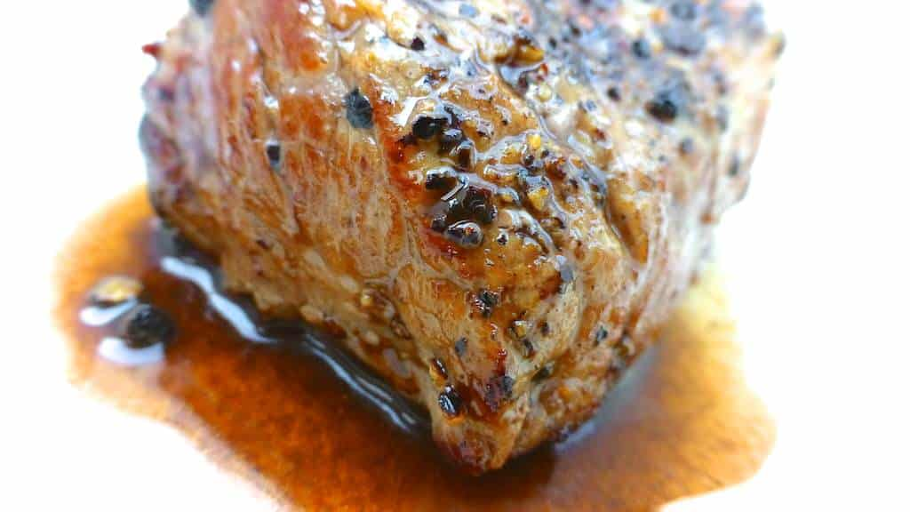 Steak Au Poivre With Balsamic Reduction Recipe — Dishmaps