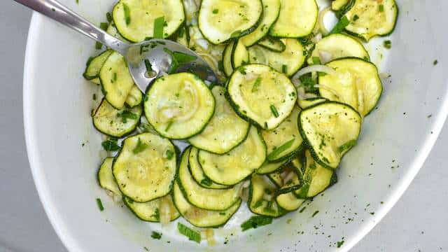 This zucchini escabeche is a good example of how you can turn an everyday ingredient into a much more exciting side dish without a lot of effort.