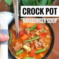 Crock Pot Hamburger Soup with Barley
