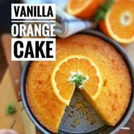 Orange Cake Recipe with Vanilla