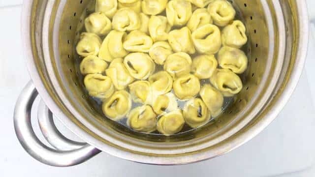Creamy sun dried tomato and goat cheese tortellini recipe from scratch! These tortellini don't need a creamy sauce to go with it.