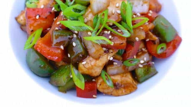 Chicken Stir Fry Recipe: with bell pepper and a spicy black pepper ...