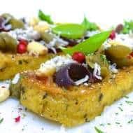 Grilled Polenta with Herbs & Olives