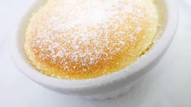 My easy lemon pudding cake recipe, a cute little dessert... The little gooey pool of lemon custard on the bottom is quite a surprise!