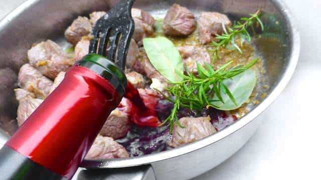 """This recipe for beef stew with red wine and olives is also known in France under the very elegant name of """"daube provençale""""!"""