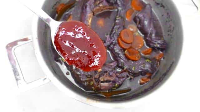 Civet de lievre recipe or stewed hare in red wine with carrots, pearl onion, juniper berries and rosemary... a winter classic!
