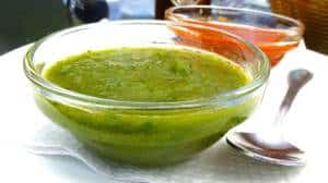 My fresh mojo verde recipe prepared from scratch: a classic Canarian garlicky green herb sauce for potatoes, bread or fish!