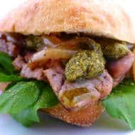 Steak Sandwich Recipe with Pesto