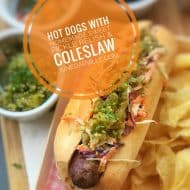 Hot Dog Recipe with Coleslaw & Sweet Relish