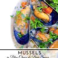 Mussels with Blue Cheese & Belgian Beer