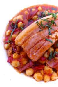 This smoky chickpea stew with pork belly is my take on the traditional garbanzas canarias, also known as garbanzas compuestas