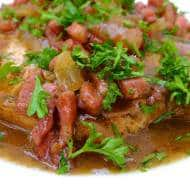 Pork Chops In Beer & Bacon Sauce