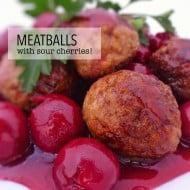 Belgian Meatballs with Sour Cherries