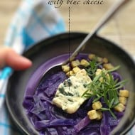 Red Cabbage Soup Recipe with Blue Cheese