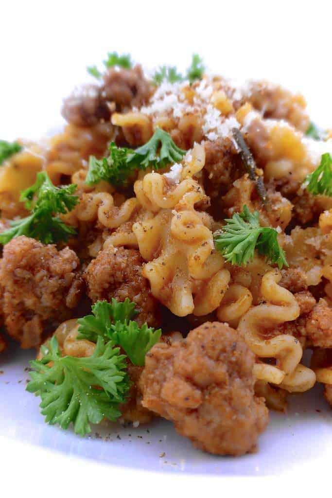 Just the basic flavors today... Enjoy this stripped meat sauce recipe! It's chunky and rich... the perfect sauce for your next spaghetti dinner!