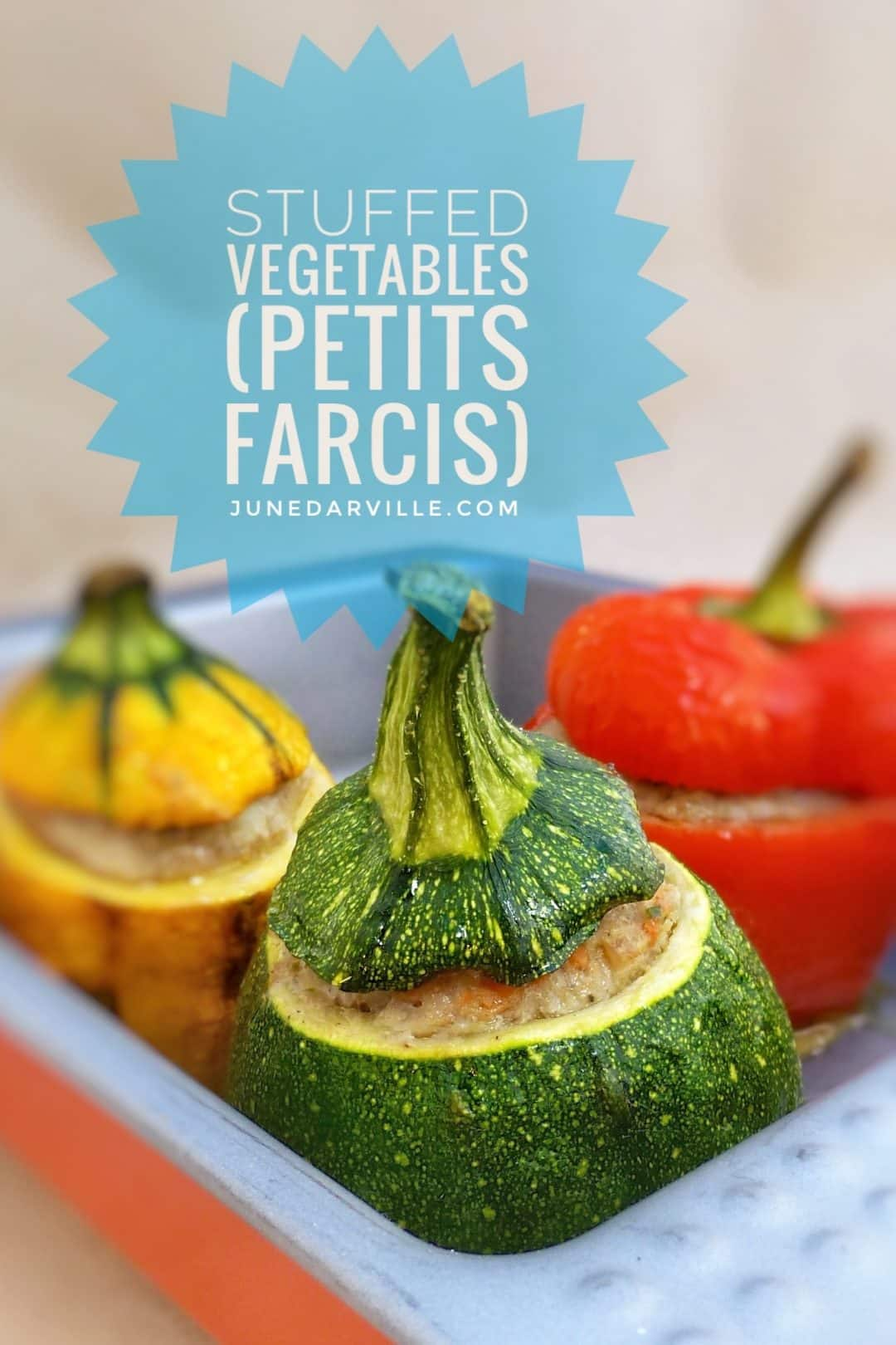 Stuffed Zucchini Recipe, a classic French recipe called 'petits farcis'! Soft grilled vegetables stuffed with flavorful meatballs...