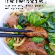 Beef Noodles & Bok Choy Stir Fry Recipe
