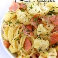 Cauliflower Spaghetti with Bacon