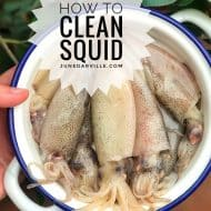 How To Clean Squid – Step By Step Pictures!