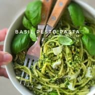 Pesto Pasta with Homemade Basil Pesto
