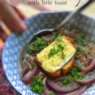 Red Onion Soup Recipe with Brie Toast