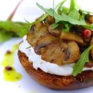 Mushroom Brioche Toast with Goat's Cheese