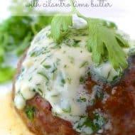 Chili Hamburger Steak & Cilantro Lime Butter
