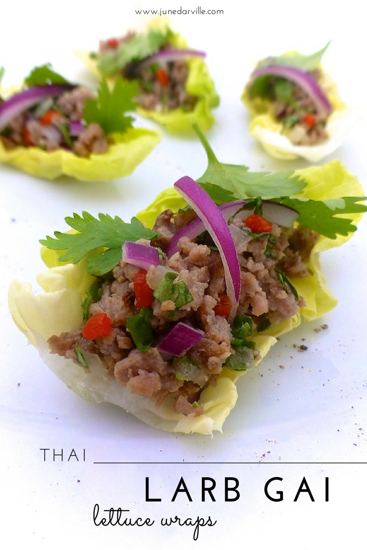 Thai Larb Gai Lettuce Wraps | Simple. Tasty. Good.