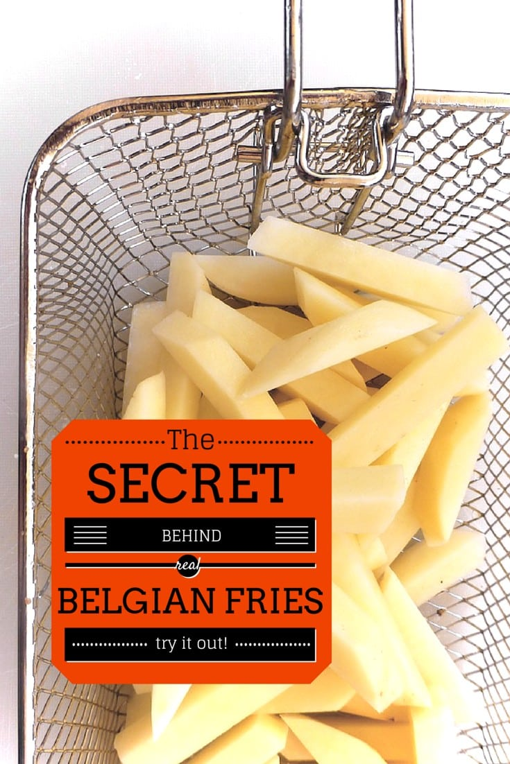 The secret behind how to bake fries... the best Belgian fries recipe! How are classic Belgian fries prepared? Everything you want to know about fries!