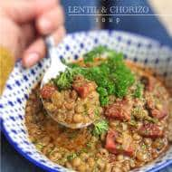 Lentil and Chorizo Soup Recipe: Yum!