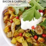 Potato Hash with Cabbage & Sour Cream