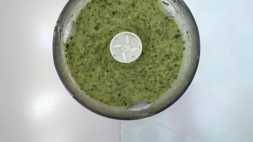 Flavor bomb! This creamy green cilantro hummus has it all: it is fresh, zesty, bright, light and so surprisingly delicious!