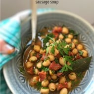 30-Minute Chickpea Chorizo Soup