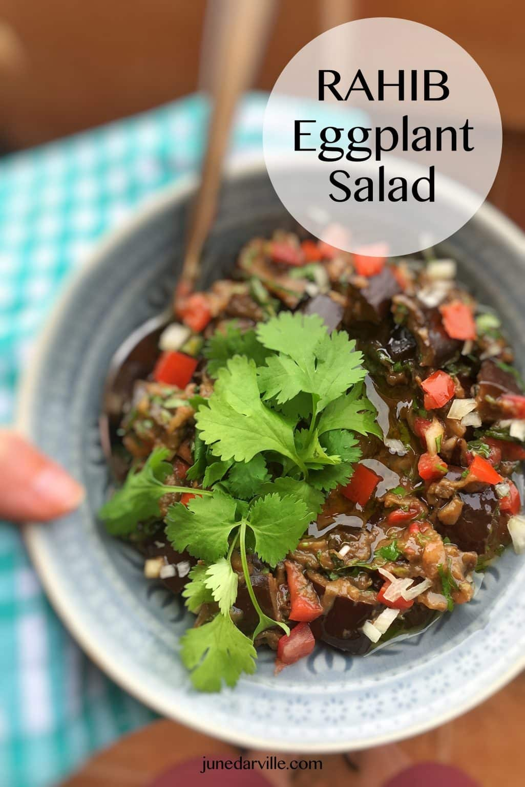 A fresh and easy rahib salad: this is an Eastern roasted eggplant salad and a great alternative for the classic baba ganoush!