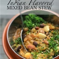 Mixed Bean Stew with Indian Flavors