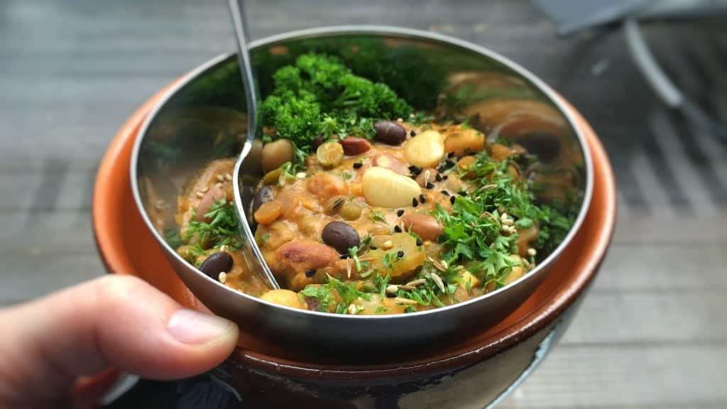 Mixed Bean Stew with Indian Flavors Simple Tasty Good