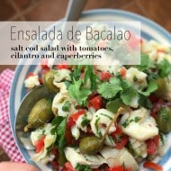A cold and refreshing salt cod salad with fresh tomatoes, herbs, capers and lots of olive oil... The perfect summer fish salad!
