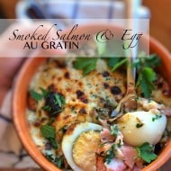 Eggs au Gratin with Smoked Salmon